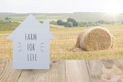 Jordbruks- landskap hemma royaltyfri bild