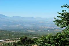 Jordbruks- liggande, Baeza, Spanien. arkivfoto
