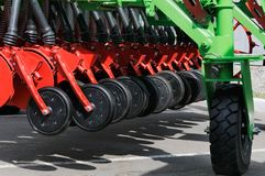 Jordbruks- maskinbakgrund arkivfoton