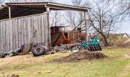 Jordbruks- maskineri för industriell odling arkivfoton