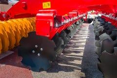 Jordbruks- maskineri i mässa royaltyfria foton