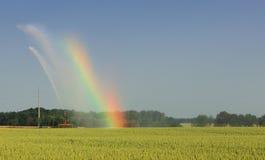 jordbruks- regnbåge Arkivfoton