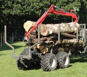 Jordbruks- spårvagn Royaltyfri Bild