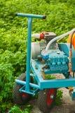 Jordbruks- utrustning i växthuscloseup Arkivbild