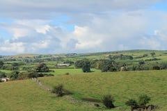 Jordbruksmark Cumbria England Royaltyfri Fotografi