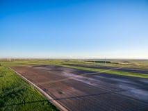 Jordbruksmark i den östliga Colorado flyg- sikten Royaltyfri Bild