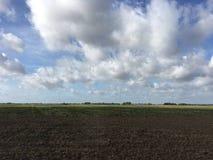 Jordbruksmark i Litauen Royaltyfria Foton