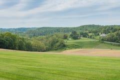 Jordbruksmark som omger William Kain Park i York County, Pennsylva Arkivfoto