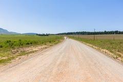 Jordbruksmarker för maratonlöpare Arkivbild