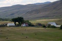 Jordbruksmarkhöstack Amerika Fotografering för Bildbyråer