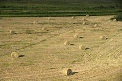 Jordbruksmarkhöstack Amerika Royaltyfri Fotografi