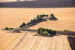 Jordbruksmarklandskap i Basilicata, Italien Arkivbilder
