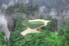 jordbruksmarknationalparksky zhangjiajie Arkivbild