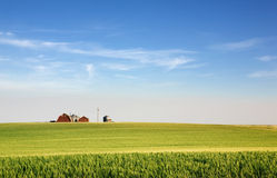 jordbruksmarkprärie Fotografering för Bildbyråer