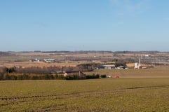 Jordbruksområde nära Aalborg i Danmark Arkivbild