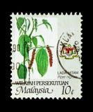 Jordbruksprodukt - Lada hitam, Wilayah Persekutuan serie, circa 1986 royaltyfria bilder