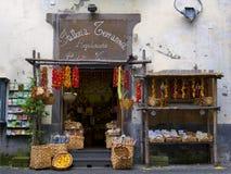Jordbruksprodukter lagrar, Sorrento Italien Royaltyfri Bild