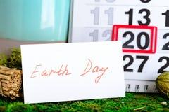 Jorddag för mars 20 på kalender Arkivfoton