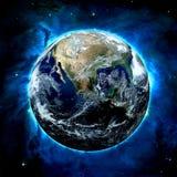 Jorden - beståndsdelar av denna bild som möbleras av NASA Royaltyfri Bild