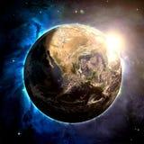 Jorden - beståndsdelar av denna bild som möbleras av NASA Arkivbild