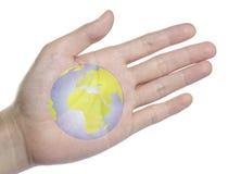 Jorden på din hand Royaltyfri Foto