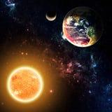Jorden & solen Arkivbild