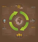 Jordenergieffektivitet Arkivbild