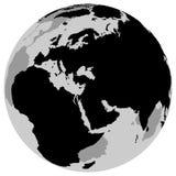jordEuropa jordklot royaltyfri illustrationer