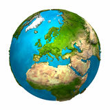 jordEuropa planet Royaltyfria Bilder