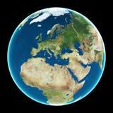 jordEuropa planet Arkivfoto
