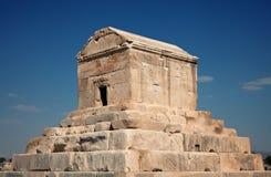Jordfästninggrav av Cyrus The Great i Pasargad av Shiraz Arkivbilder