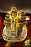 Jordfästningmaskering av den egyptiska farao Tutankhamun arkivfoto