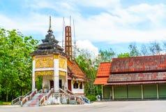 Jordfästningställe för thailändsk buddist arkivbilder