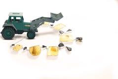 Jordflyttkarl med smycken royaltyfri fotografi