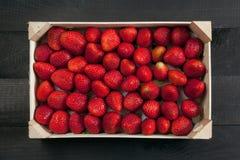 jordgubbar för bakgrundsmatserie Royaltyfri Fotografi