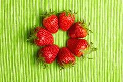 jordgubbar för cirkel sju Arkivbilder