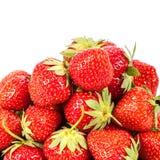 Jordgubbar för ny frukt på vit bakgrund Royaltyfri Bild