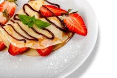 jordgubbar för ostkräppostmassa Royaltyfria Foton