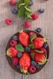 jordgubbar för red för hallon för vinbär för blåbär för sortimentbärbjörnbär Arkivbilder