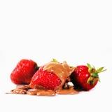 Jordgubbar i choklad Royaltyfri Fotografi
