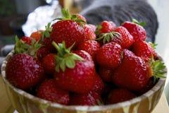 Jordgubbar som är klara att äta Royaltyfri Bild