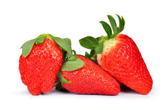 jordgubbar tre arkivfoton