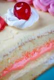 jordgubbe för födelsedagcakekräm Royaltyfri Fotografi