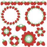 jordgubbe för dekorelementramar Royaltyfri Fotografi