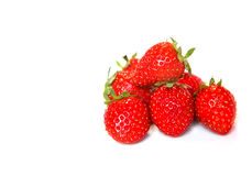Jordgubbe på vitbakgrund , jordgubbe Royaltyfri Bild