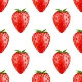 jordgubbe seamless modell stock illustrationer