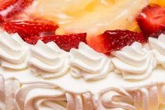 Jordgubbe Whip Cream Cake Royaltyfri Bild