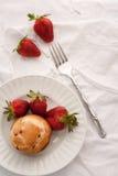 Jordgubbefrukost Arkivfoton