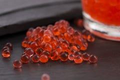 Jordgubbekaviar, molekylär gastronomi royaltyfria bilder