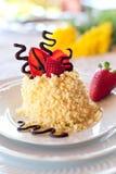 Jordgubbetårta med choklad Fotografering för Bildbyråer